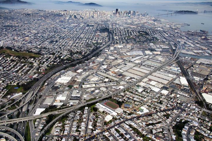 San Francisco's Industrial Bayshore Corridor Area